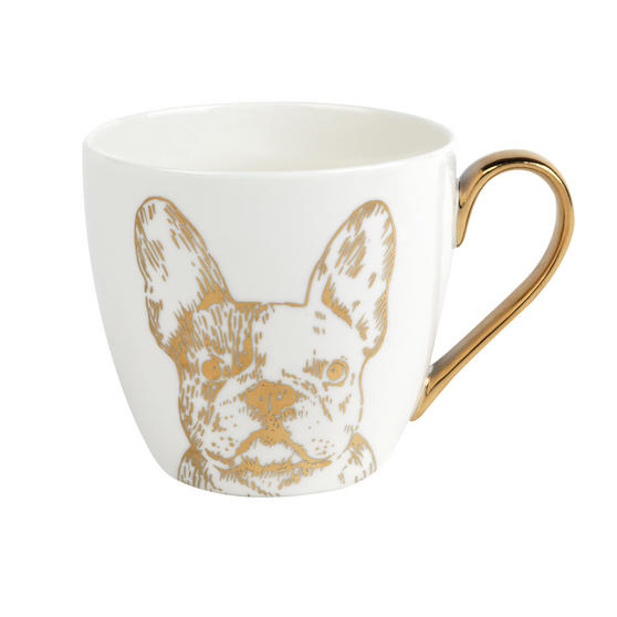 Cambridge CM05045 Kendal Gold Bulldog Fine China Mug Set of 8