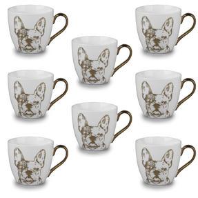 Cambridge CM05045 Kendal Gold Bulldog Fine China Mug Set of 8 Thumbnail 1