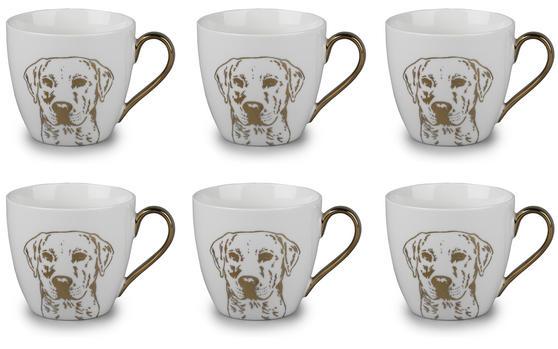 Cambridge CM05047 Kendal Gold Labrador Fine China Mug Set of 6
