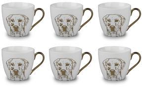 Cambridge CM05047 Kendal Gold Labrador Fine China Mug Set of 6 Thumbnail 1