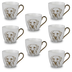 Cambridge CM05047 Kendal Gold Labrador Fine China Mug Set of 8 Thumbnail 1