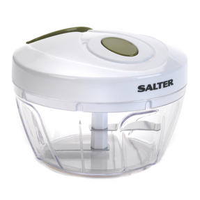 Salter Green and White Mini Chopper