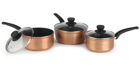 Salter BW04773 Copper Effect 3 Piece Saucepan Set Thumbnail 1