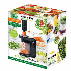 Salter 3 in 1 Top Loading Electric Fruit and Vegetable Spiralizer, 80 W Thumbnail 4