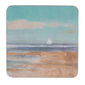 Inspire TW290397 Luxury Sail Away Coasters, 29 x 29cm, Hardboard, Multicolour, Set of 4