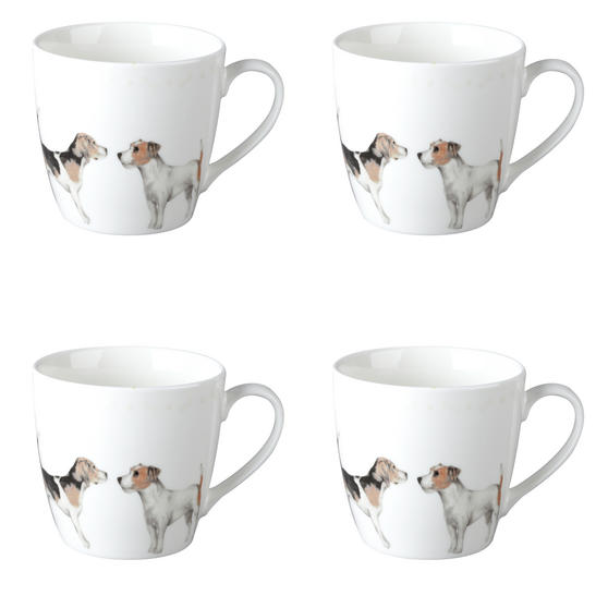 Cambridge CM04286 Harrogate Terrier Friends Fine China Mug Set of 4