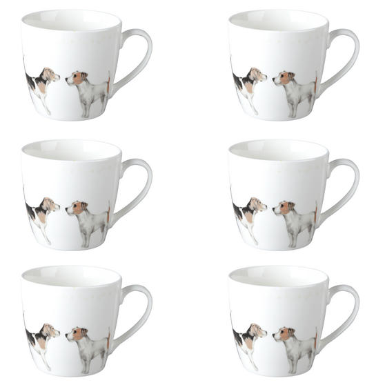 Cambridge CM04286 Harrogate Terrier Friends Fine China Mug Set of 6