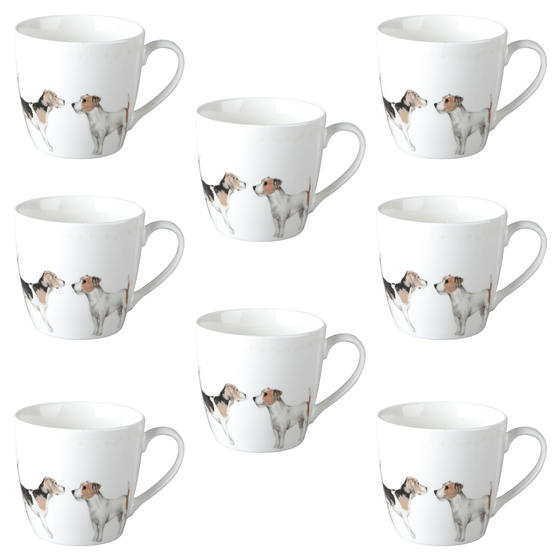 Cambridge CM04286 Harrogate Terrier Friends Fine China Mug Set of 8