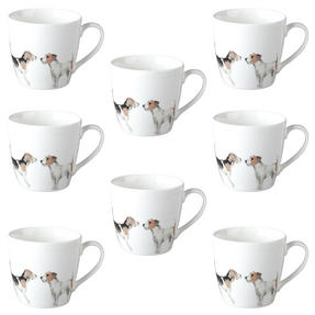 Cambridge CM04286 Harrogate Terrier Friends Fine China Mug Set of 8 Thumbnail 1