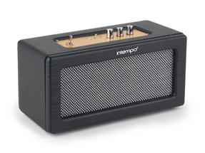 Intempo EE1447 Black Retro Speaker with Leather Cover