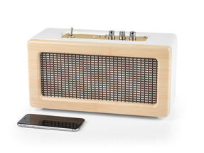 Intempo EE1447 Cream Retro Speaker with Leather Cover