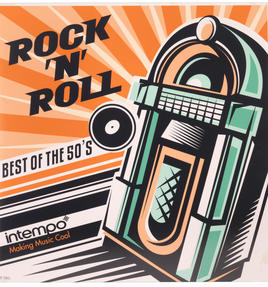 "Intempo EE1500 Rock & Roll Best of the 50s Collection LP Vinyl Record, Remastered, 12"", Feat Buddy Holly, Roy Orbison & More Thumbnail 1"