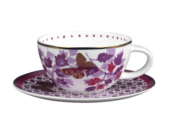Portobello CM04907 Harlow Bone China Cup and Saucer Set