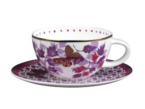 Portobello CM04907 Harlow Bone China Cup and Saucer Set Thumbnail 1