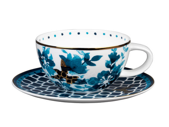 Portobello CM04909 Montreal Bone China Cup and Saucer Set
