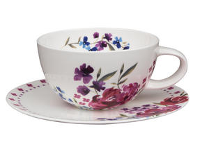 Portobello CM04958 Aniya Bone China Cup and Saucer Set Thumbnail 1
