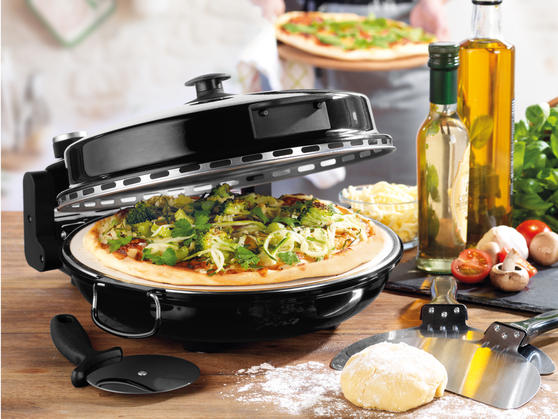 Giles & Posner EK2309BLACK Black Bella Pizza Maker