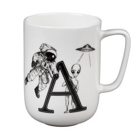 Portobello CM04992 Devon Alien & Astronaut Bone China Mug Thumbnail 1