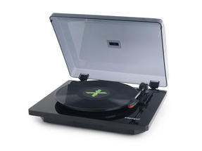 Intempo Black Stylus Essential Record Player Turntable