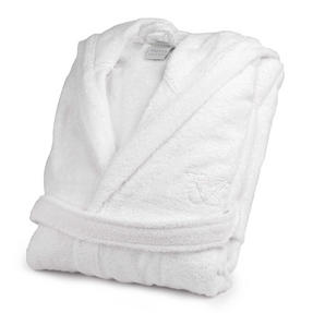 Frette 1705708 White Cotton Bath Robe with Hood ? Small/Medium Thumbnail 1
