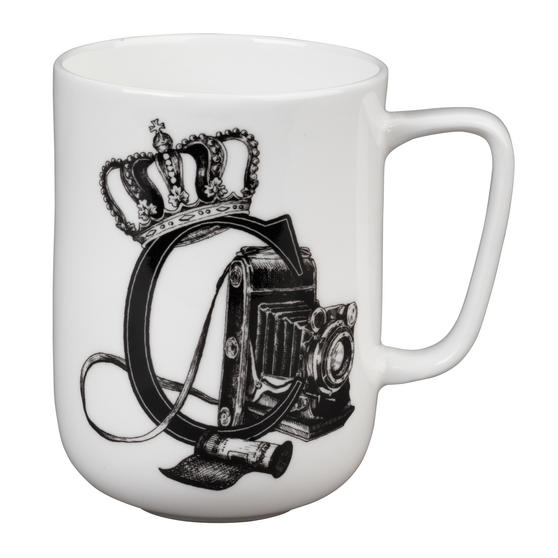 Portobello Devon Crowned Camera Bone China Mug