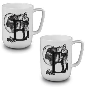 Portobello CM04994 Devon Exploring The Earth Bone China Mug Set of 2