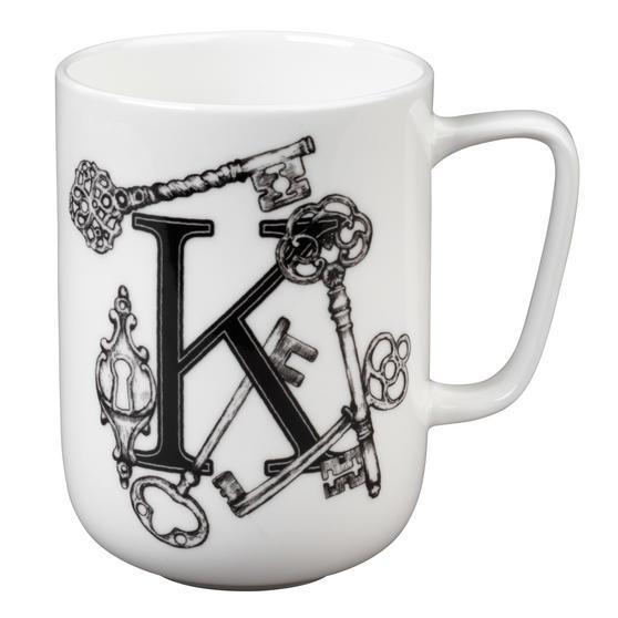 Portobello Devon Keys & Keyholes Bone China Mug