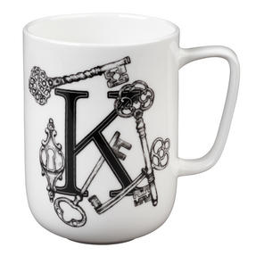 Portobello CM04996 Devon Keys & Keyholes Bone China Mug