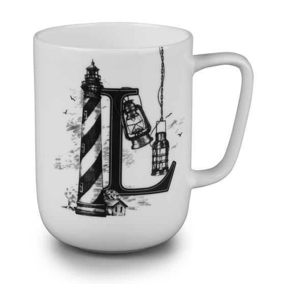 Portobello Devon Lighthouse & Lanterns Bone China Mug