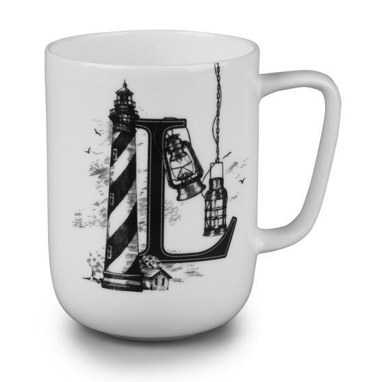 Portobello Devon Lighthouse & Lanterns Bone China Mug