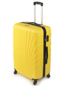 """Constellation LG00418 28"""" Yellow Arc ABS Suitcase"""