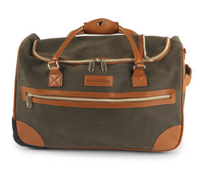 Constellation Esquire Suedette Roller Holdall, Green Thumbnail 1