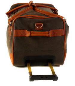 Constellation Esquire Suedette Roller Holdall, Green Thumbnail 4