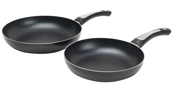 Russell Hobbs BW03758B Zeus 24cm & 28cm Black Aluminium Frying Pan Set