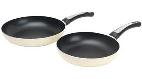 Russell Hobbs BW03758C Zeus 24cm & 28cm Cream Aluminium Frying Pan Set Thumbnail 1