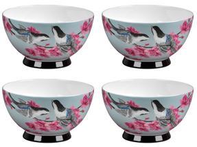 Portobello CM04469 Footed Kazumi Bone China Bowl Set of 4