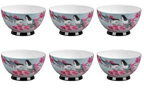 Portobello CM04469 Footed Kazumi Bone China Bowl Set of 6