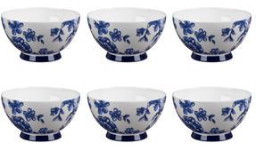Portobello CM04471 Footed Perla Bone China Bowl Set of 6