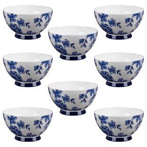 Portobello CM04471 Footed Perla Bone China Bowl Set of 8
