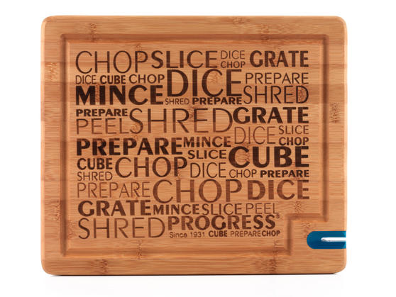 Progress BW05081 34 cm Bamboo Chopping Board with Knife Sharpener