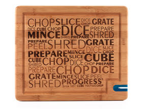 Progress 34 cm Bamboo Chopping Board with Knife Sharpener