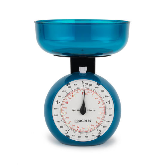 Progress BW04779 Blue 5 kg Orb Kitchen Scale