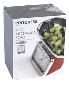 Progress BW05102 Red 5 kg Mechanical Kitchen Scale Thumbnail 2