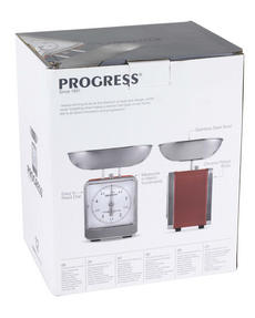 Progress BW05102 Red 5 kg Mechanical Kitchen Scale Thumbnail 3