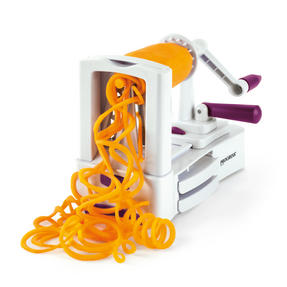 Progress 3 Blade Purple and White Fruit and Vegetable Spiralizer
