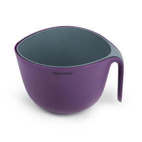 Progress Measuring Bowl and Colander Set, Purple/Grey