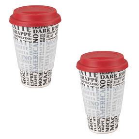 Cambridge CM04529 Bamboo Coffee Aroma Travel Mug Set of 2