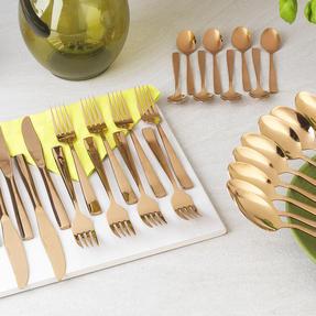Salter BW05462 Regal 16 Piece Cutlery Set, Rose Gold, 1 Year Guarantee  Thumbnail 9