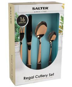 Salter BW05462 Regal 16 Piece Cutlery Set, Rose Gold, 1 Year Guarantee  Thumbnail 3