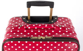 "Constellation Suitcase Travel Trolley, 28"", Berry Polka Dot Thumbnail 4"